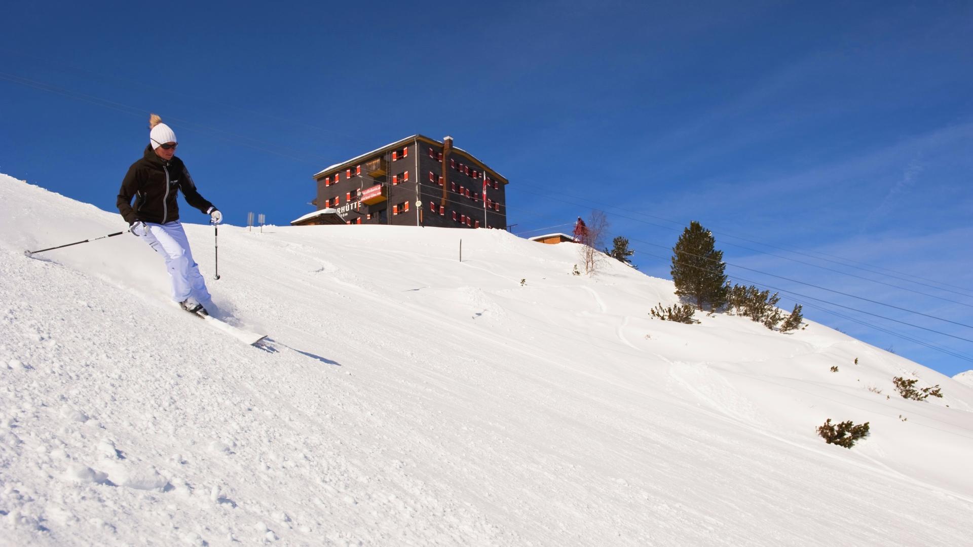 Ski slope on Elfer