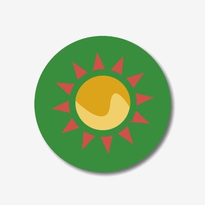 Button Sonne