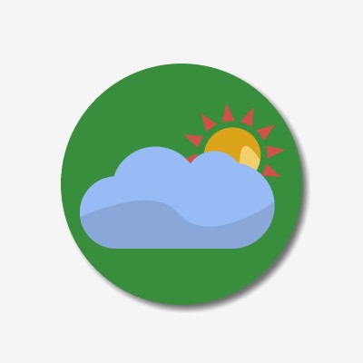 Button weather forecast