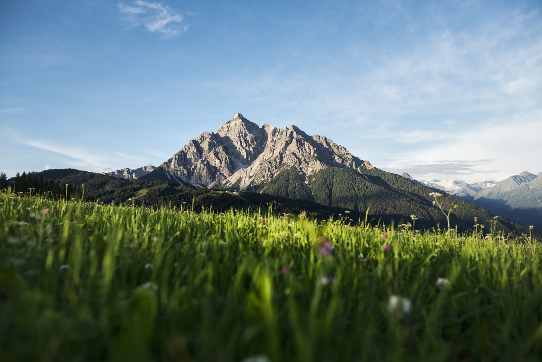 The Serles mountain in the Stubai valley, one of the Sven Summits